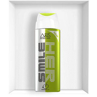 Aris Her Smile Deodorant Body Spray For Women 200 Ml.(set Of 2 Deodorants)