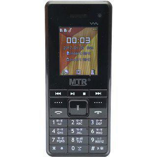 Mtr Mt-2130i Dual Sim Dual Camera Mobile Phone In Black Color