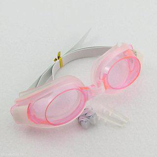 Futaba Water Sports Swimming Set With 2 Earplugs 1 Nose Clip - Pink