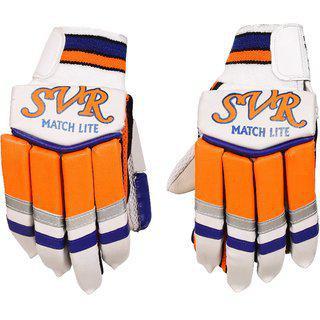 Svr Matchlite Cricket Batting Gloves For Professionals Right Hand Batsman Made In Premium Leather