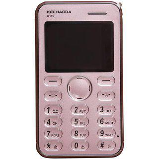 Kechaoda K116 Dual Sim With Bluetooth Dialer Phone In Pink Color