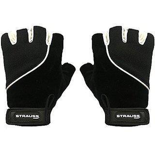 Strauss Comfort Velvet Stretchback Cut Finger Gloves (smallblack)