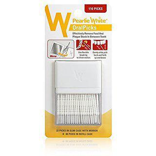 Pearlie White Oralpicks 110 Toothpicks In A Slim Case With Mirror