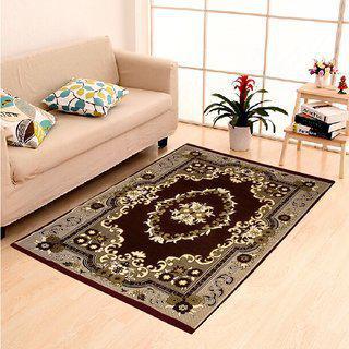 Peponi Carpets 10 Feet X 12 Feet Xxxl Size Chennile Velvet Feel Coffee