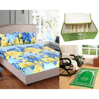 Welhouse India 1 Double Bedsheet 2pillow Cover 1 Janmaz 1 Storage Box