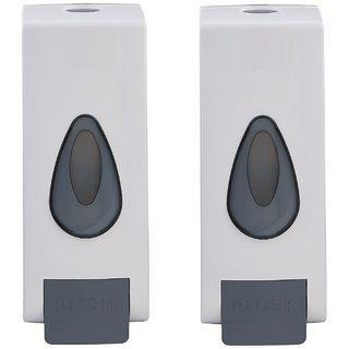 Prestige White Color High Quality Abs 360 Ml Soap Dispenser- Pack Of 2
