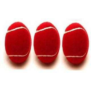 Tahiro Red Colour Cricket Balls - Pack Of 3