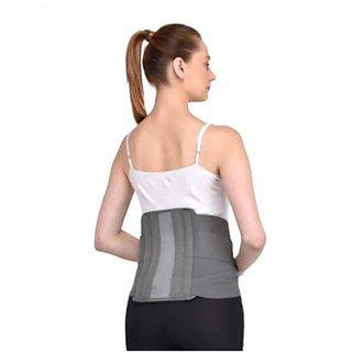 Kudize Lumbar Sacral (l.s.) Belt Contoured Spinal Brace Mild Lower Back Support Grey -large(28 To 32 Cm Or 90 To 100 Cm)