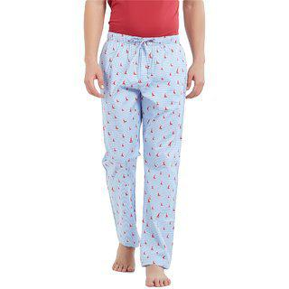 Xyxx Men's Printed Light Blue Pyjama