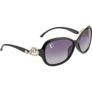 Clark N' Palmer Grey Polarized Oval Women Sunglasses