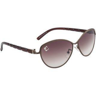 Clark N' Palmer Brown Uv Protection Cat-eye Women Sunglasses