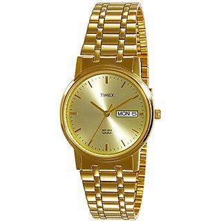 Timex Quartz Gold Round Men Watch A504