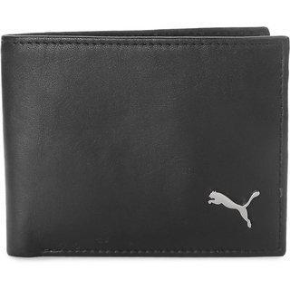 Puma Men Black Artificial Leather Wallet 4 Card Slots