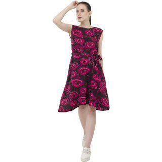 Anshiroyal Multicolour Blue White Red Pink Dress