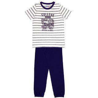 Ventra Boys College Nightwear Set Purple
