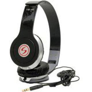Signature Black Vm46 Solo Hd Stereo Dynamic Over The Ear Wired Headphones