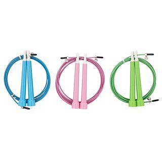 Fitguru Jump Ropes Long Size Of 3 Meters Skipping Rope For Men Women Unisex (pink Color)