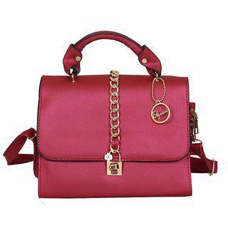 Elprine Rich Look Stylish Red Sling Bag For Women