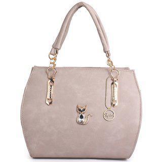 Elprine Designer Women's Shoulder Bag Elegant Off White Handbag