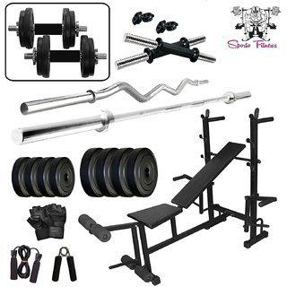 Sporto Fitness 40 Kg Home Gym Set With 8 In 1 Exerciser Home Gym Bench