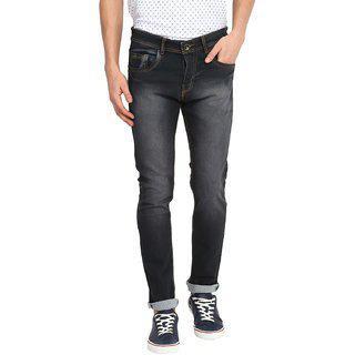 Routeen Men's Brown Grey Cotton Spandex Jeans Jrmctn603brgr