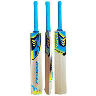 Mayor Kashmir Willow Cricket Bat For Use By Beginners & Professionals.