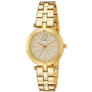 Timex Analog Gold Dial Womens Watch-tw000z200