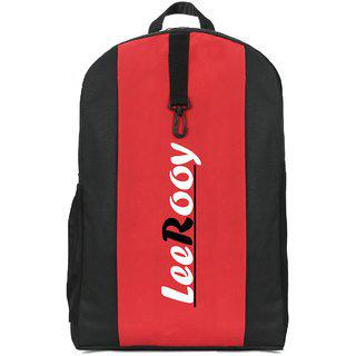 Leerooy Canvas 22 Ltr Black Messenger Bag Backpack For Men