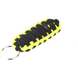 Paracord 550 Best Survival Grenade Keychain For Camping Hiking Outdoor Activities Black Florescent
