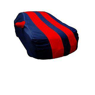 Gs- Premium Quality Multi Stitched Waterproof Parachute Red & Blue Blue Car Body Cover For Maruti Suzuki 800 -(with Side Mirror Pockets)