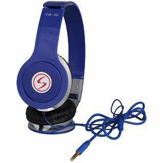 Signature Vm-46 Stereo Bass Solo Headphones For All Smartphones (blue)