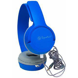 Signature 3.5mm Vm-61 Champ Series Earphone With Mic - Redmi 3s Prime Compatible (blue)