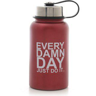 Getsweat Maroon Stainless Steel Motivational Logo Gym Shaker Bootle 500 Ml (mm-s3-707every)