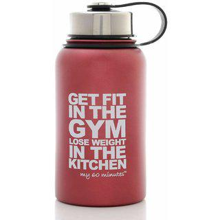 Getsweat Red Green Stainless Steel Motivational Logo Gym Shaker Bootle 500 Ml (mm-s3-707getfit)