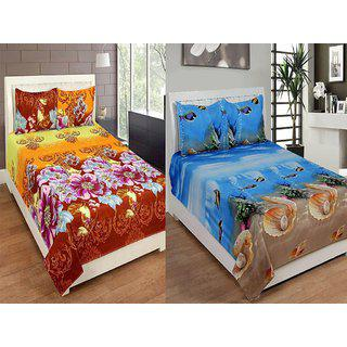 Status Micro Fibre 2 Double Bedsheets With 4 Pillow Covers