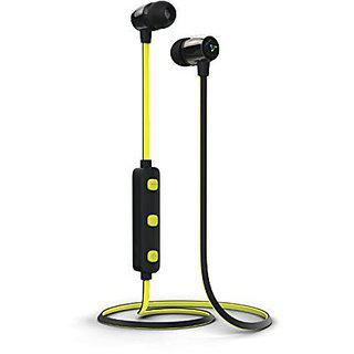Syska H-15 Bluetooth Headset With Mic (yellow In The Ear)
