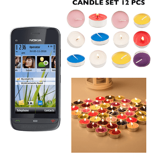 Nokia C503 /good Condition/certified Pre-owned (1 Year Warrantybazaar Warranty) With Free Candle Set