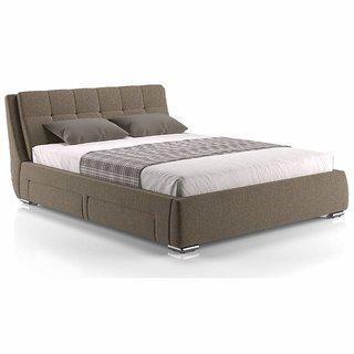 Urban Stanhope Ladder Drawer Storage Upholstered King Size Double Bed (mist Brown)