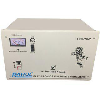 Rahul A-zone A8 Kva/32 Amp 140-280 Volt 3 Booster Main Line Use Up To 8 Kva Load Automatic Voltage Stabilizer
