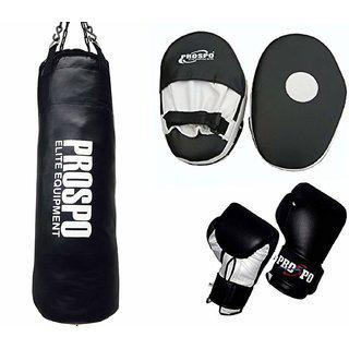 Prospo Strong Srf Punching Bag With Focus Pad Straight And Boxing Gloves