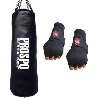 Prospo 36 Extra Strong And Heavy Srf Punching Bag With Hand Wrap