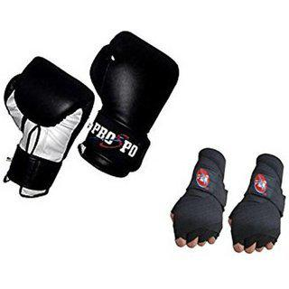 Prospo 12 Oz Training And Fighting Boxing Gloves With Hand Wrap Gloves (syenthetic Leather )