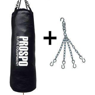 Prospo Rough Srf Punching Bag (36inch) Punching Bag With Hanging Chain