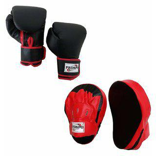 Prospo Focus Pad Curved With Boxing Gloves(boxing Punching Pad)