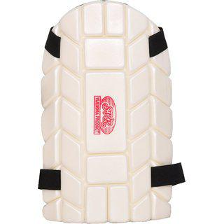 Svr Cricket Thigh Pad In White For All Age Groups - Pack Of 1 Full Size Right Hand Batsmen