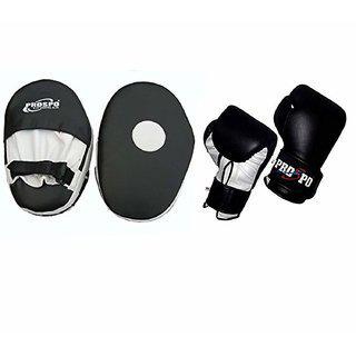 Prospo Focus Pad Straight With Boxing Gloves