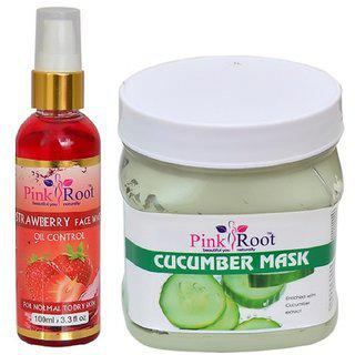 Pink Root Cucumber Mask 500ml - Pr Strawberry Face Wash