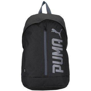 PUMA Pioneer Backpack II 17.5 L Laptop Backpack Black Grey