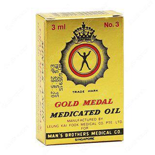 Gold Medal Medicated Oil - 3ml (pack Of 12)