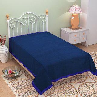 Azaani Antipill Blue Single Bed Ac Blanket